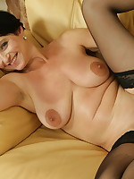 Housewife getting horny after a nice wine - Granny Girdles