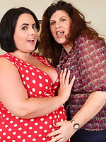 Curvy Lesbian housewives go naughty and get wet - Granny Girdles